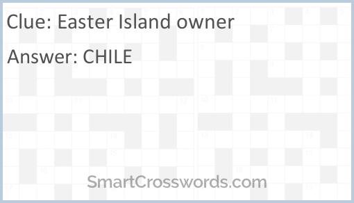Easter Island owner Crossword Clue - SmartCrosswords com