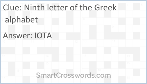 Ninth Letter Of Greek Alphabet Crossword Clue   Alphabet Image and