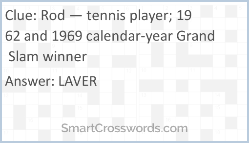 Calendar 1969.Rod Tennis Player 1962 And 1969 Calendar Year Grand Slam Winner