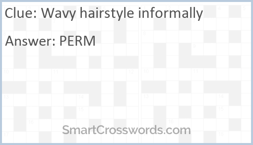 Curly Hairstyle Crossword Clue - Malacca c